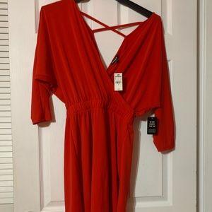 Sexy Red Dolman Dress!!